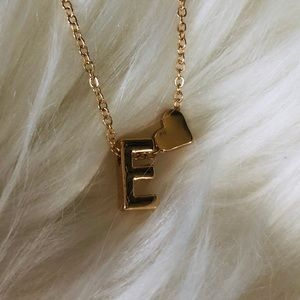 Jewelry - E Initial Pendant Necklace